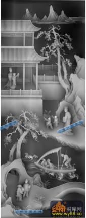 四美格-童趣-008-四美格雕刻灰度图