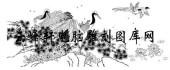 白描仙鹤-矢量图-鹤鸣之士-9-仙鹤国画矢量