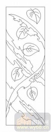 09现代装饰-树叶-00054-喷砂玻璃图库