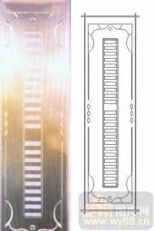 喷砂玻璃-浮雕贴片-矩形-00088