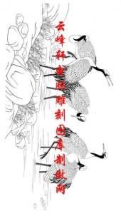 长卷鹤-矢量图-秋风乍起鹤声远-仙鹤雕刻图片