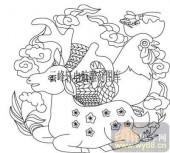 100个中国传统吉祥图-矢量图-祥瑞动物-B-100-吉祥图案