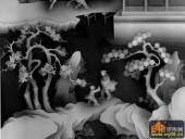 八仙多宝格-情深-736-浮雕灰度图