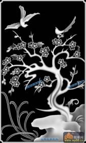 04-梅花-091-花鸟浮雕灰度图