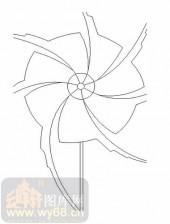 喷砂玻璃图库-11门窗组合-几何图形-00030