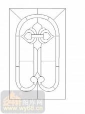喷砂玻璃-12镶嵌-几何花纹-00004