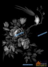 01-芙蓉-068-浮雕灰度图