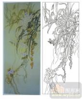 2011设计艺术玻璃刻绘-花1-艺术玻璃