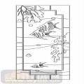 玻璃雕刻-04对开门(2)-热带鱼-00108