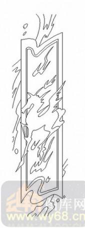 玻璃雕刻-06四扇门(2)-波纹-00050