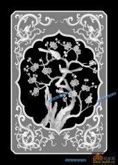04-梅花-078-花鸟灰度图案