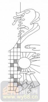 喷砂玻璃图库-06四扇门(2)-抽象图案-00039