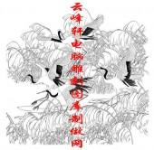 长卷鹤-矢量图-芦荡仙客-仙鹤雕刻图片