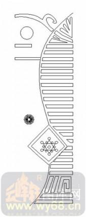喷砂玻璃-06四扇门(2)-抽象图案-00071