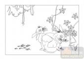 03动物系列-对兔-00005-装饰玻璃