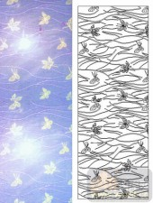 05肌理雕刻系列样图-蝴蝶-00197-装饰玻璃