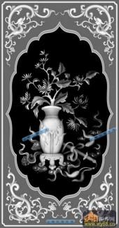 04-花瓶-024-花鸟浮雕灰度图