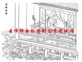二十四孝-矢量图-13扇枕温衾-中国国画矢量二十四孝图
