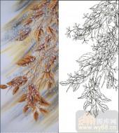 2011设计艺术玻璃刻绘-叶子2-玻璃雕刻