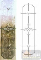 玻璃门-浮雕贴片-花纹-00047