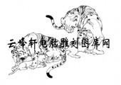 虎1-矢量图-虎子狼孙-29-虎雕刻图片