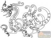 龙-白描图-飞龙在天-long16-中国白描龙