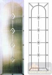 雕刻玻璃-浮雕贴片-花纹-00037