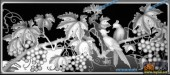 03-葡萄藤-064-花鸟灰度图