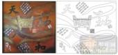 2011设计艺术玻璃刻绘-天地人和-喷砂玻璃图库