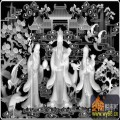 福禄寿 仙人 树 云-灰度图