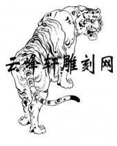 虎2-矢量图-潜龙伏虎-62-虎雕刻图案