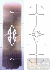 雕刻玻璃-浮雕贴片-花纹-00009