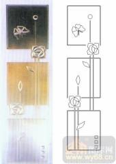 雕刻玻璃图案-浮雕贴片-蝶恋花-00076