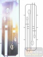 艺术玻璃图库-浮雕贴片-花骨朵-00082