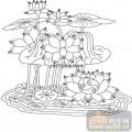 100个中国传统吉祥图-矢量图-荷花-B-043-矢量图