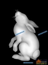 01-白兔-128-玉雕灰度图