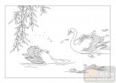 04花草禽鸟-清闲-00026-喷砂玻璃图库