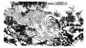 虎第五版-矢量图-虎狼之势-10-虎雕刻图片