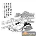 1马企周十八罗汉-矢量图-13第十三布袋罗汉:因揭陀尊-中国国画矢量罗汉