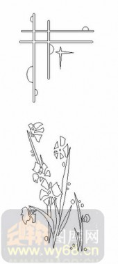 雕刻玻璃-08四扇门(4)-艺术花-00035