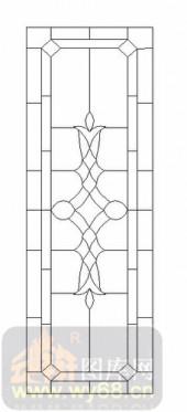 玻璃雕刻-12镶嵌-几何花纹-00042