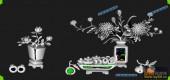 03-菊花-055-花鸟浮雕灰度图