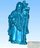 寿星-圆柱雕刻图案