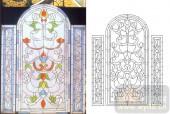 06欧式装饰系列样图-花藤花纹-00015-艺术玻璃图库