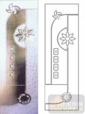 装饰玻璃-浮雕贴片-花朵-00029