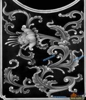 宝座综合-花魁-021-宝座精雕灰度图