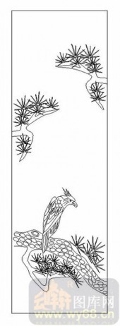 01传统系列-鹰瞵鹗视-00031-雕刻玻璃