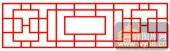 镂空装饰单式002-方块花纹-镂空装饰单式002-064-镂空屏风效果图
