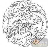 100个中国传统吉祥图-矢量图-飞龙在天-B-008-传统图案