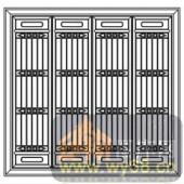 镂空装饰组合式-竖线条窗扇-镂空装饰组合式-013-镂空矢量图